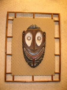 Tiki mask at Disney's Polynesian Resort in Orlando