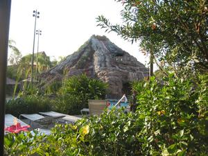 Volcano at the pool at Disney's Polynesian Resort in Orlando