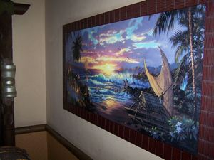 Thor painting in a Fiji building hotel room at Disney's Polynesian Resort in Orlando