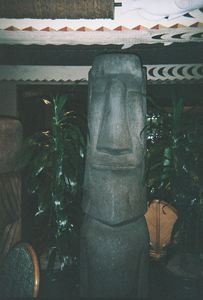 Moai in the 'Ohana restaurant at Disney's Polynesian Resort in Orlando