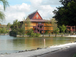 The Tuvalu longhouse at Disney's Polynesian Resort in Orlando
