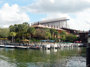 The Mikala Canoe Club Marina at Disney's Polynesian Resort in Orlando