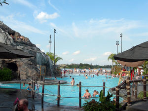 The Nanea Volcano Pool at Disney's Polynesian Resort in Orlando