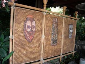 The valet stand at Disney's Polynesian Resort in Orlando