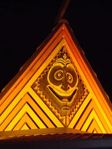 Carving on an A-frame at Disney's Polynesian Resort in Orlando