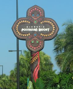 Sign for Disney's Polynesian Resort in Orlando