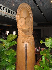 Tiki in the 'Ohana restaurant at Disney's Polynesian Resort in Orlando