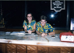 Disney cast members at the Concierge Desk of Disney's Polynesian Resort in Orlando