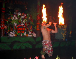 Teauila's Hawaii show at the Green Turtle Restaurant in Daytona Beach