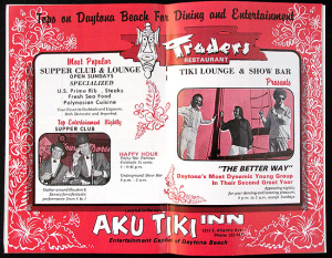 Advertisement for the Aku Tiki Inn, from the <i>What To Do and See in Daytona</i> Guide