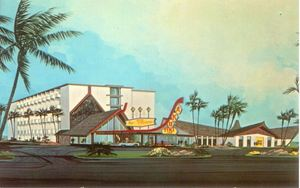 Postcard from Aku Tiki Inn in Daytona Beach