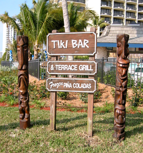 Sign for the Tiki Bar at the Marco Island Marriott Resort