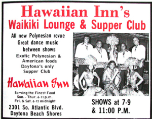 Advertisement for the Hawaiian Inn, from the <i>What To Do and See in Daytona</i> Guide