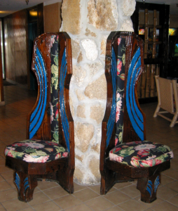 Witco chairs in the lobby at Hawaiian Inn in Daytona Beach