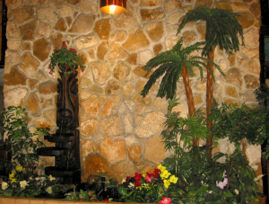 Witco fountain display in the lobby at Hawaiian Inn in Daytona Beach