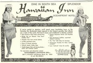 Ad for Hawaiian Inn in Daytona Beach