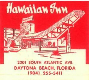 Detail from the inside of a matchbook from Hawaiian Inn in Daytona Beach