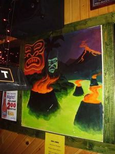 Original artwork at Lava Lounge in Madison