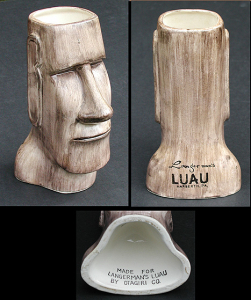 Moai mug from Langerman's Luau in Narberth