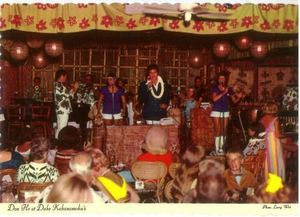 Postcard of Don Ho performing at Duke Kahanamoku's in Waikiki