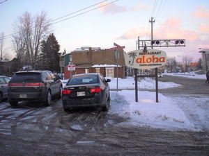 Sign for Restaurant Aloha in St-J�r�me