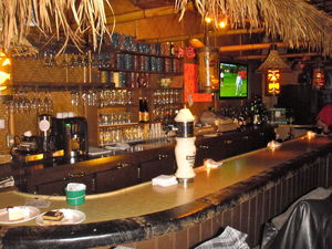 The bar at Restaurant Aloha in St-J�r�me