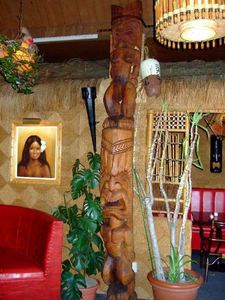 Genuine Gauguin on wall at H�tel-Motel Coconut in Trois-Rivi�res