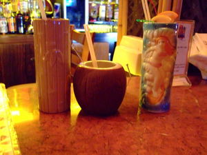 Drinks served in mugs at H�tel-Motel Coconut in Trois-Rivi�res