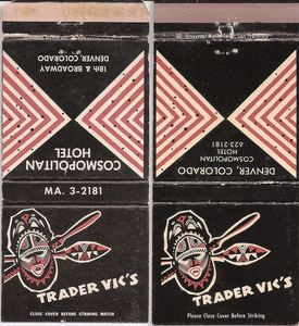 Matchbooks from Trader Vic's in Denver