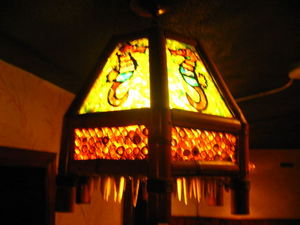 Light fixture at Ho Kong in Woonsocket