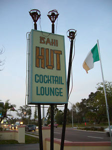 The sign for Bahi Hut Lounge in Sarasota