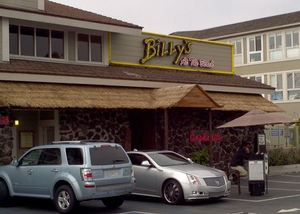 Front of Billy's at the Beach in Newport Beach