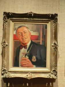 Portrait of Victor Bergeron at Trader Vic's in San Francisco