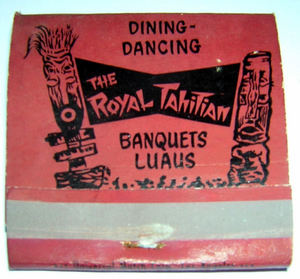 Matchbook from Royal Tahitian in Ontario