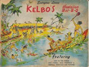 Cover of drink menu from Kelbo's in Los Angeles