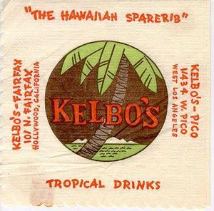Napkin from Kelbo's