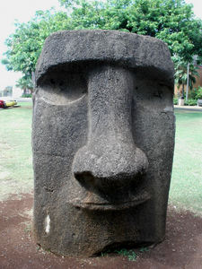 Moai in front of the Bishop Museum in Honolulu