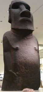 An actual moai from Rapa Nui that now lives at The British Museum in London