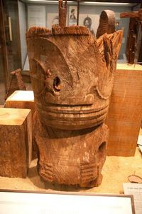 Marquesan tiki exhibit at The Field Museum in Chicago
