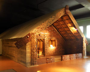 Maori meeting house from Tokomoro Bay, New Zealand at The Field Museum in Chicago