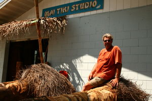 Wayne Coombs at his Mai Tiki Gallery in Cocoa Beach