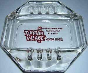 Ashtray from the motor hotel at Tahitian Village in Downey