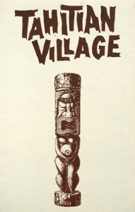 Cover of a small souvenir menu from the Tahitian Village