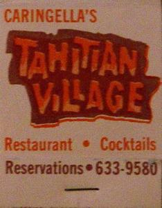 Matchbook from Tahitian Village
