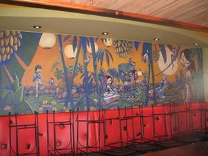 Mural upstairs at Waitiki in Orlando