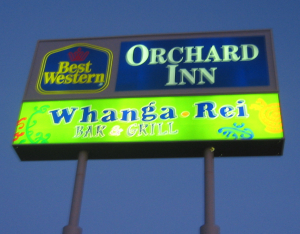Sign for Whanga Rei