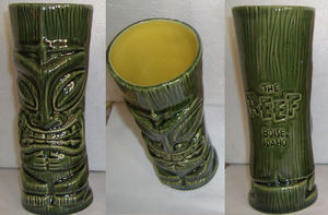 Tiki mug from The Reef in Boise