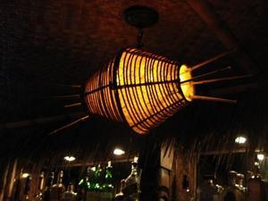 Lamp at the Lucky Tiki