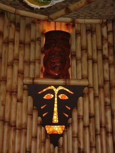 Light fixture at the Lucky Tiki