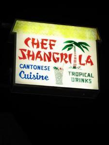 Sign for Chef Shangri-La